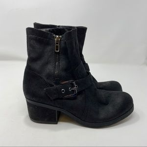 Carlos Santana Black Ankle Boots Size 8 A106